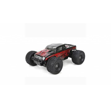 ECX ECX Ruckus 1:18 4WD Monster Truck: Black/Red RTR