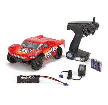 ECX ECX Torment 1:24 4wd Short Course Truck: Black/Red RTR