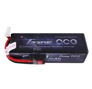 Gens Ace Gens ace 5000mAh 11.1V 50C 3S1P HardCase Lipo Battery15# with Deans plug