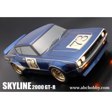ABC Hobby USA ABC HOBBY NISSAN SKYLINE GT-R (KENMERI) + Racing Over Fender Kit (200mm) / Body Set with Light Buckets(66136)