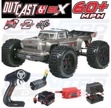 Arrma ARRMA 2018 1/8 Outcast 6S Stunt Truck 4WD Silver