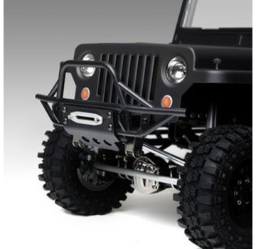 Gmade Gmade GS01 Front Tube Bumper with Skid Plate, Black