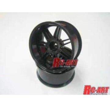 Mikuni MIKUNI  [DW-829BK]GNOSIS GS5 wheel Offset 9 Black