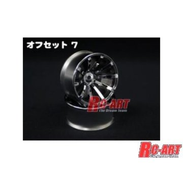 Top Line TOP LINE [OUW-0107WC]Drift Fighter DRS-10 Jupiter Offset 7 W Chrome 4mm hub specification (VRC-OUW-0107WC)