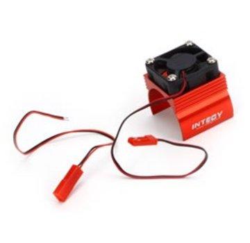 Integy INTEGY Super Brushless Motor Heatsink / Fan, 540, Red (HOR-INTC23140R)
