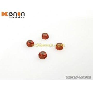 PN Racing PN Racing Alm. 2mm Wheel Lock Nut - Red