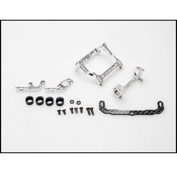 PN Racing PN Racing Mini-Z MR02/03 93-102mm Multi Motor Mount (Silver) (MR2395S)