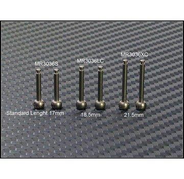 PN Racing PN Racing Mini-Z MR03 SCC Front Extra Long King Pin (2 pcs)