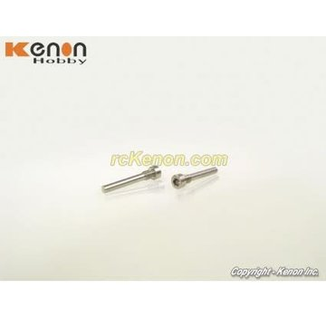 PN Racing PN Racing (MR3037) Mini-Z MR03 Stainless Steel Upper Arm Pin (2 pcs)