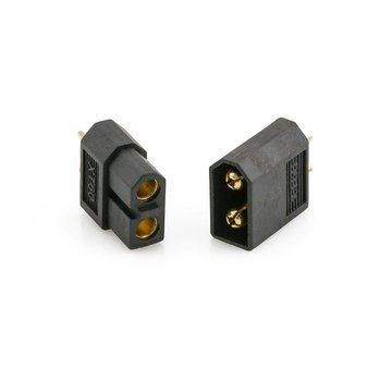 ExcelRC High Quality XT60 Male and Female Plugs One Pair Black