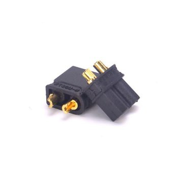 ExcelRC AMASS XT30U Anti-slip Power Connector Plug Male and Female One Pair  Black