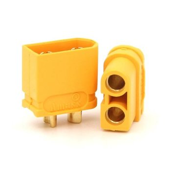 ExcelRC Amass XT60 Male and Female Plugs Yellow One Pair