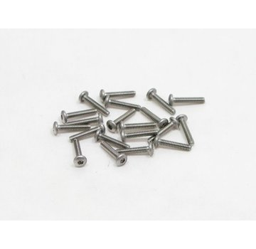 PN Racing PN Racing M2x10 Button Head Stainless Steel Hex Machine Screw (20pcs)