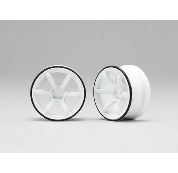 Yokomo YOKOMO RP DRIFT WHEEL HIGH TRACTION TYPE WHITE (RP-6313W6)