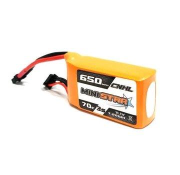 "CNHL CNHL MINISTAR 650MAH 11.1V 3S 70C LIPO BATTERY FOR 3""MINI QUAD"