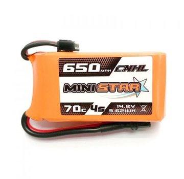 "CNHL CNHL MINISTAR 650MAH 14.8V 4S 70C LIPO BATTERY FOR 3"" MINI QUAD"