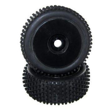 RedCat Racing REDCAT Complete Wheels, Black (2pcs)