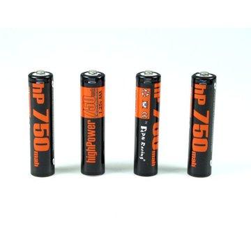 PN Racing PN Racing High Power 750mah Ni-MH Rechargeable AAA Battery (4pcs)