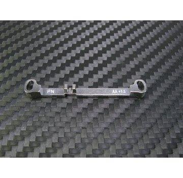 PN Racing PN Racing Mini-Z MR03 Double A-Arm +1.5 Deg Tie Rod (Silver) (MR3050TS)