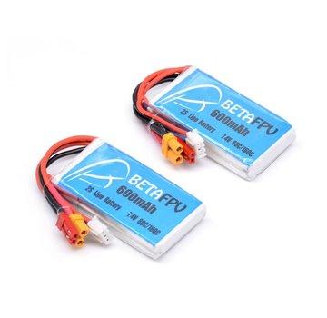 BetaFPV 600mah 80c 2S Lipo Battery 2 Pcs
