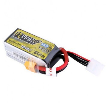 Tattu Tattu R-Line Version 2.0 1300mAh 100C 4S1P High Voltage Lipo Battery Pack with XT60 Plug