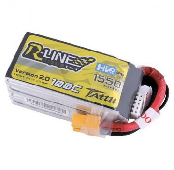 Tattu Tattu R-Line Version 2.0 1550mAh 100C 4S1P High Voltage Lipo Battery Pack with XT60 Plug