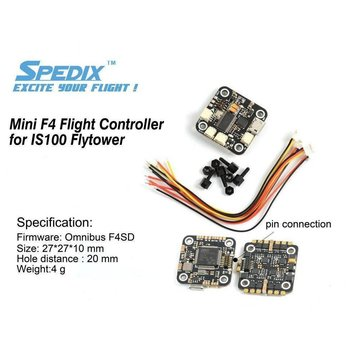 Spedix Spedix Mini 20x20 F4 Flight Controller w/OSD IS100