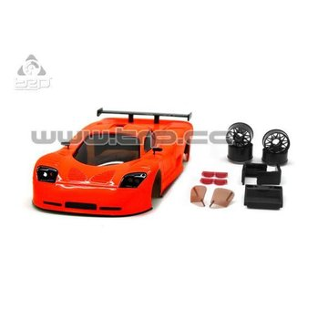 Technical Racing Products (TRP) TRP Mini-Z MR02/MR03W MM Mosler MT900 Body Set (Orange Fluor hand painted)