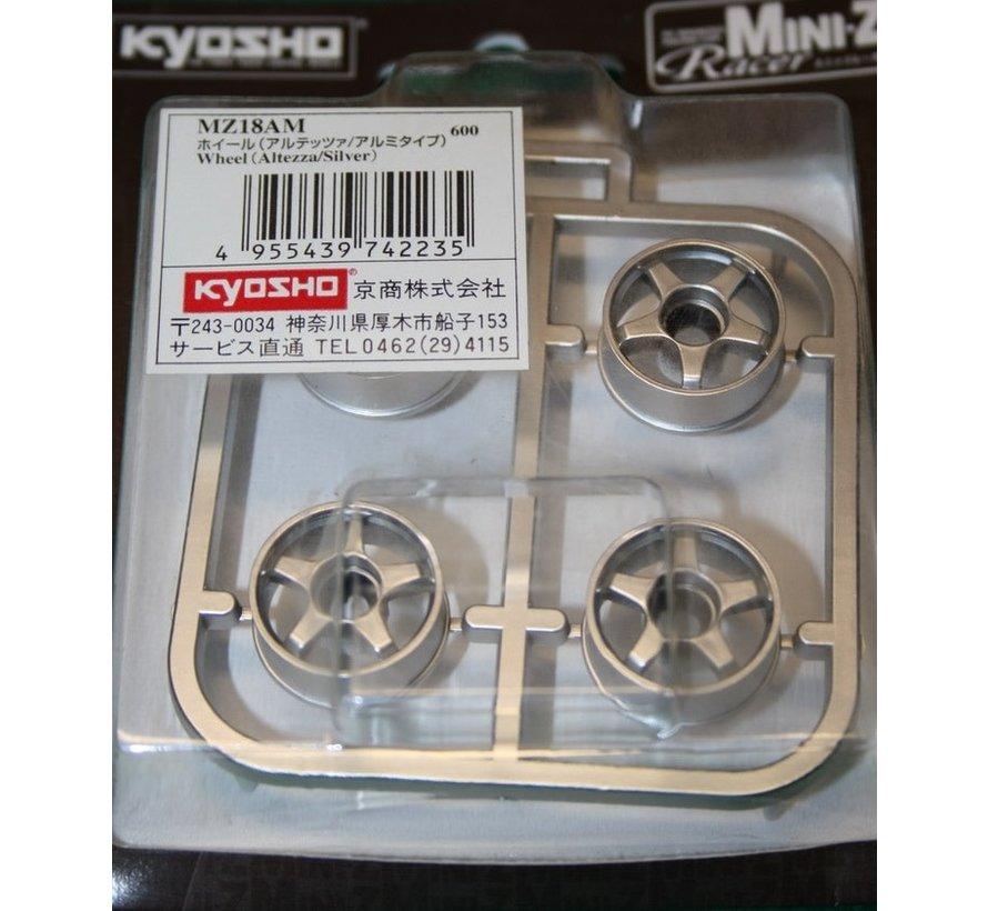Kyosho Mini-Z (MZ18AM) Wheel Altezza Silver Finish