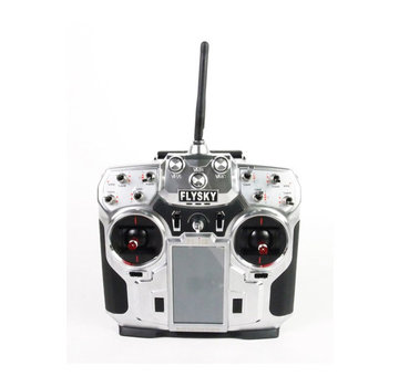 FlySky FlySky i10 2.4Ghz AFHDS2 10 Channel Transmitter with Telemetry System, Silver