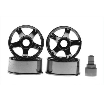 Kyosho Kyosho Mini-Z (MZ29CM) Wheel Set 5-Spoke Chrome