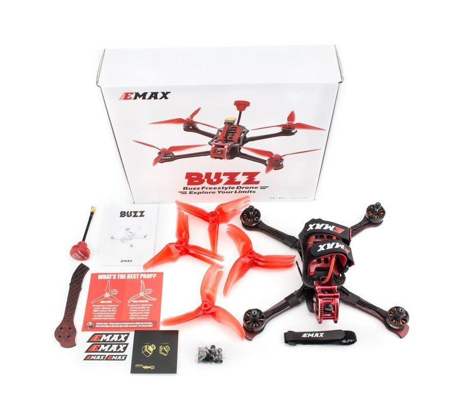 Emax Buzz 245mm/5-Inch F4 1700KV 5-6S Freestyle FPV Racing Drone BNF(With FrSky XM+ Receiver)