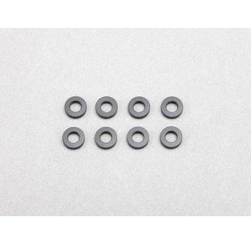 Yokomo Yokomo (ZC-A3615B) 3x6x1.5mm Aluminum Shim (Black) (8)