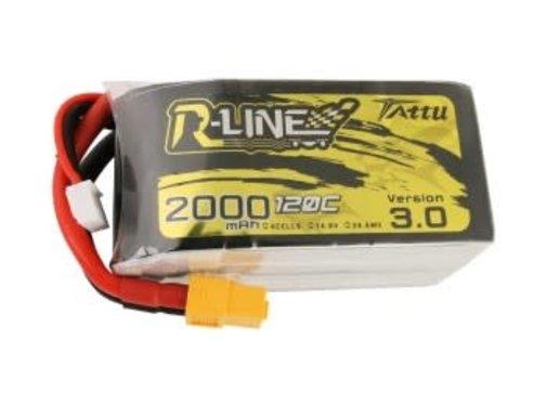 Tattu Tattu R-Line Version 3.0 2000mAh 14.8V 120C 4S1P Lipo Battery Pack with XT60 Plug