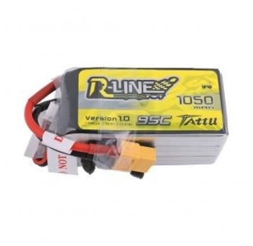 Tattu Tattu R-Line 1050mAh 95C 6S1P Lipo Battery Pack with XT60 Plug