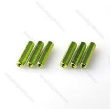 ExcelRC Aluminum Standoff M3 (30, 35, 40mm) Various Colors Green 30mm