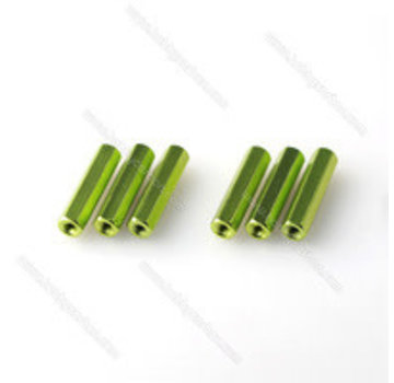 ExcelRC Aluminum Standoff M3 (30, 35, 40mm) Various Colors Green 40mm