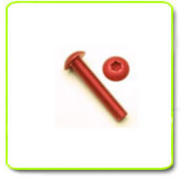 ExcelRC Button Top Screw M3 Aluminum Various Color and Length Red 16mm