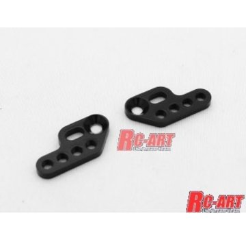 RC Art RC-ART DAMPER OFFSET PLATE V2 BLACK