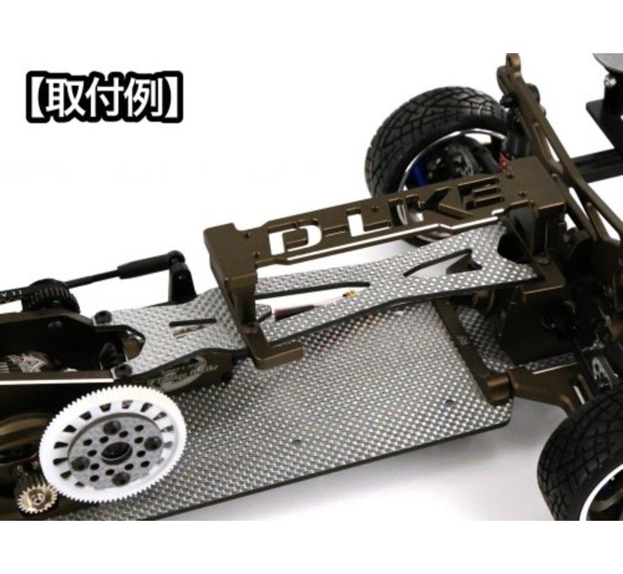 D-Like One-touch battery holder short (mat black) DL368