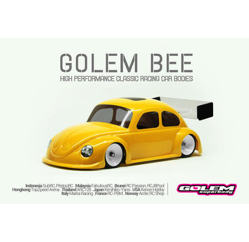 PN Racing Golem Bee Mini-Z 0.5mm Race Lexan Body Kit (98mm W/B) (G102R)