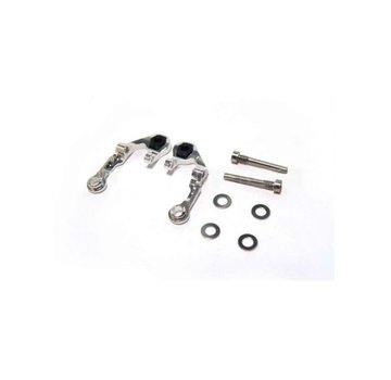 PN Racing PN Racing (MR3035S) Mini-Z MR03 Alum Caster Upper Arm 2 Camber (Silver)