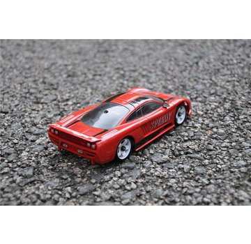 iWaver Mini-Z Body Saleen Style Red and Black Swift Drift 98MM Body Only