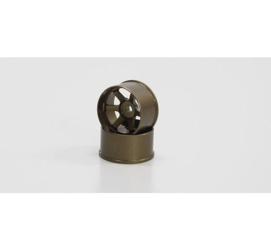 Kyosho Mini Z R246-1491 TE37 Wheel Wide Off-Set 2.0mm Bronze