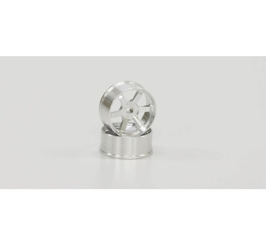 Kyosho Mini Z R246-1422 TE37 Wheel Narrow Off-Set 1.0mm Silver