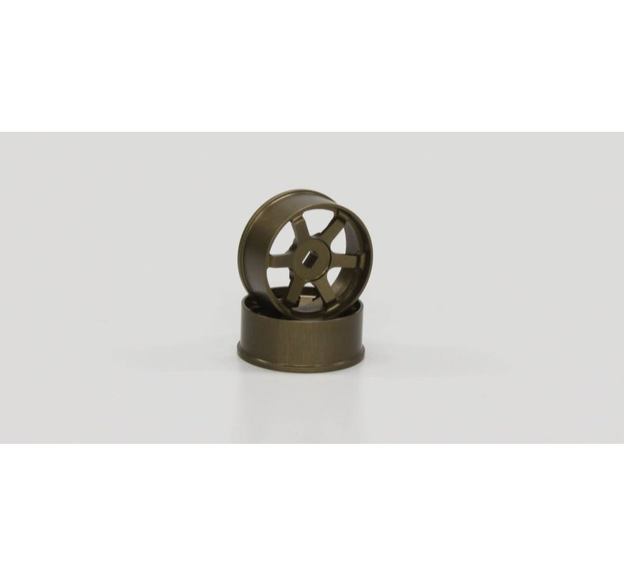 Kyosho Mini Z R246-1421 TE37 Wheel Narrow Off-Set 1.0mm Bronze