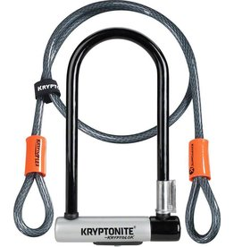 KRYPTONITE Kryptonite KryptoLok STD U-Lock with 4' Flex Cable and Bracket