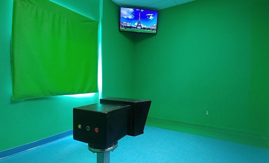 Studio à écran vert