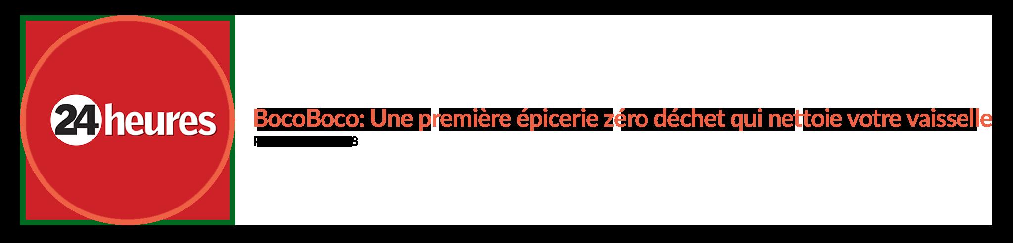 BocoBoco: Une première épicerie zéro déchet qui nettoie votre vaisselle, BocoBoco, epicerie en ligne environnement Zéro déchet ZD Bocaux
