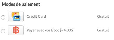 Modes de paiement commande BocoBoco